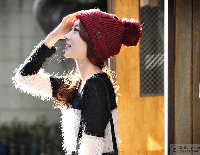 Các kiểu mũ len đẹp