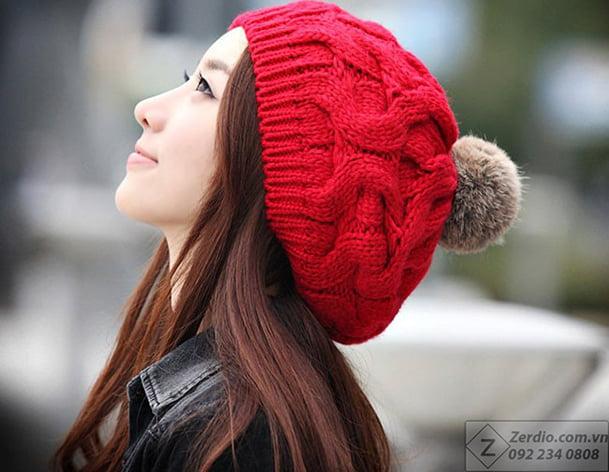 Mũ len beret