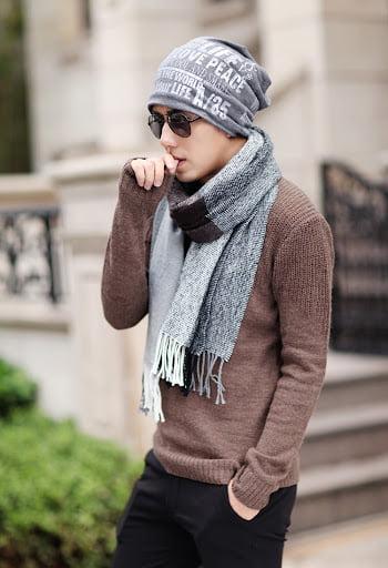 cách đội nón len đẹp cho nam mặt trái xoan