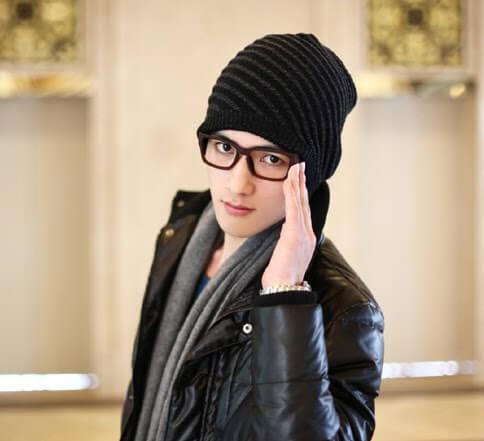 cách đội nón len nam đẹp cho mặt trái xoan
