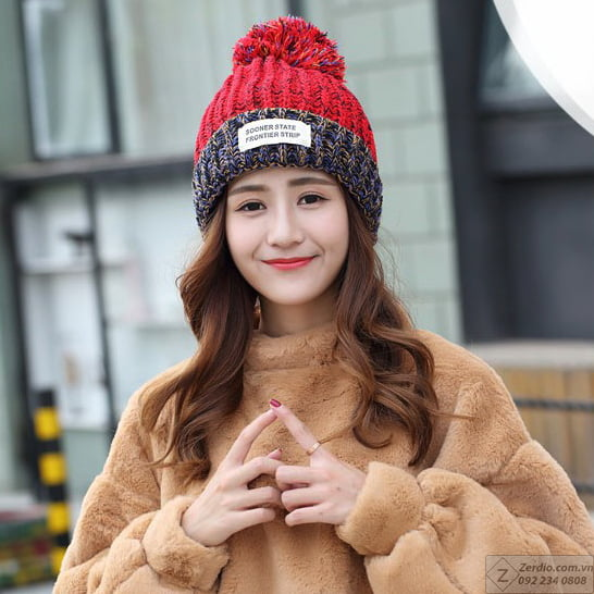 cách kiểu mũ len nữ đẹp