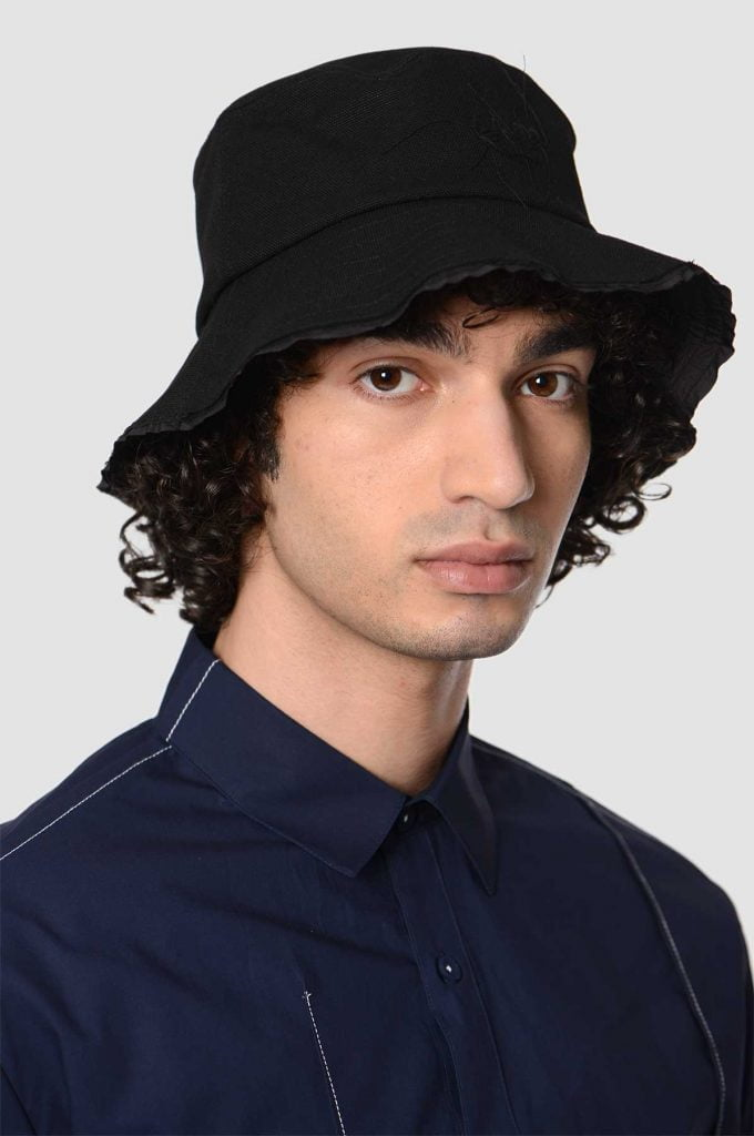 mũ bucket vải thô
