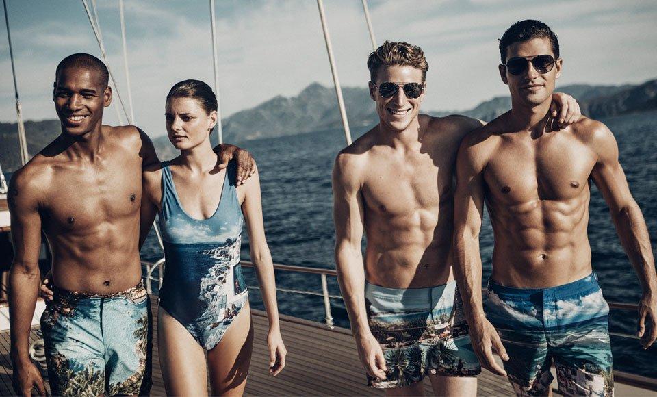 phong cách vintage khi đi bơi