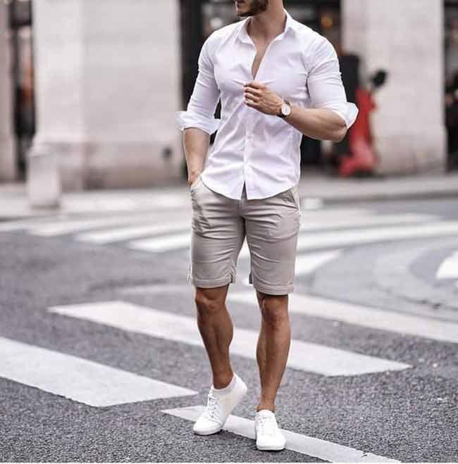 cách phối đồ với giày thể thao trắng nam