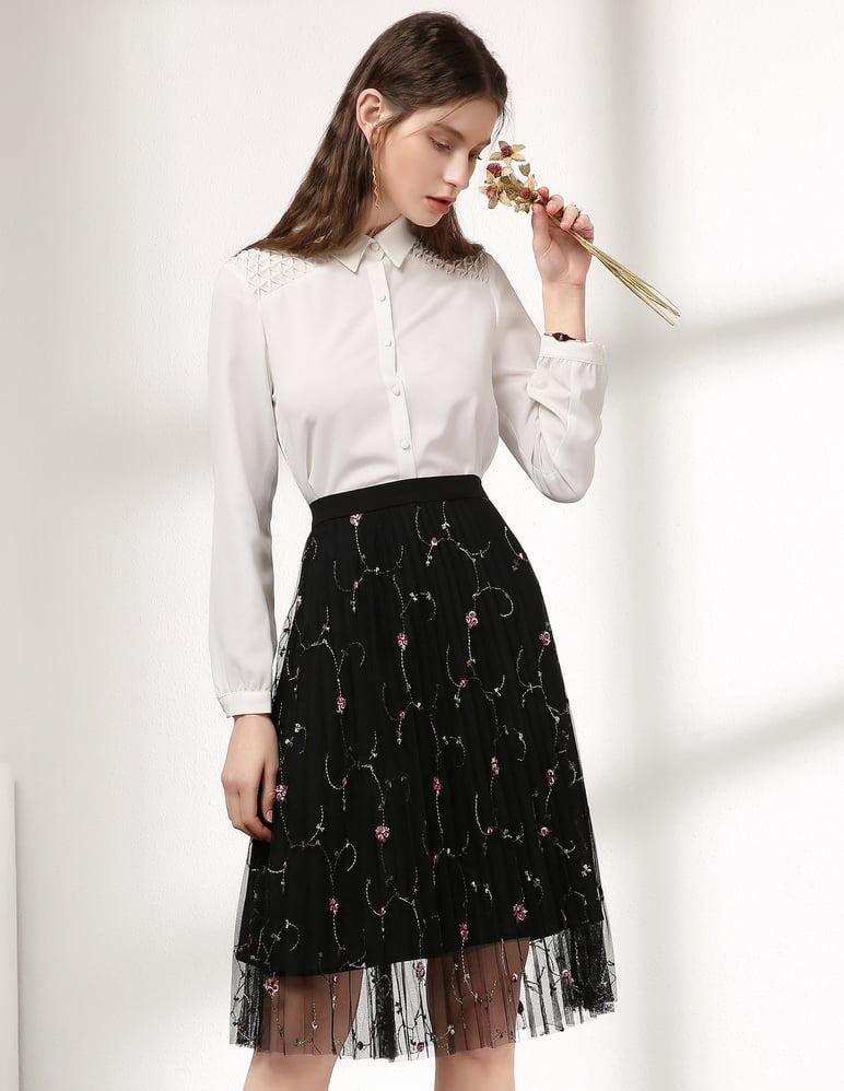 áo sơ mi phối chân váy