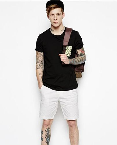quần short nam và áo thun