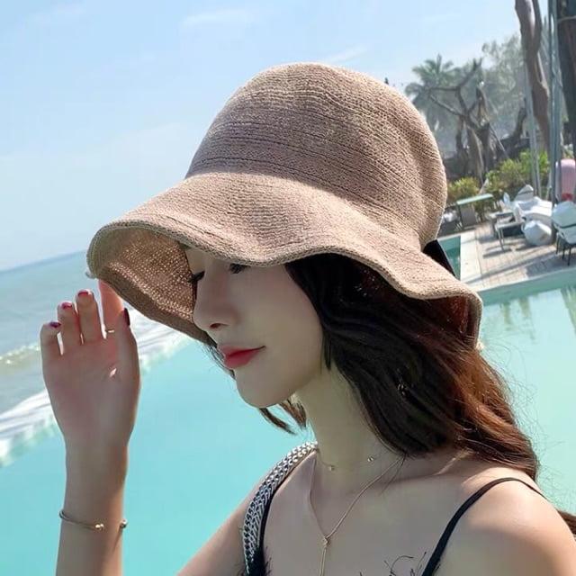 nón đội đi biển