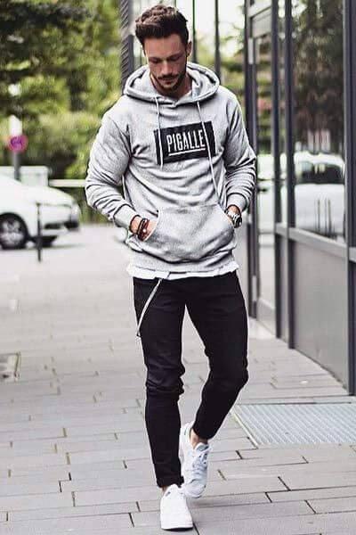 phối áo hoodie nam