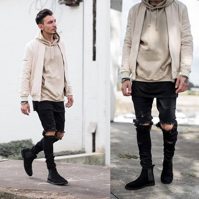 phối đồ với áo hoodie