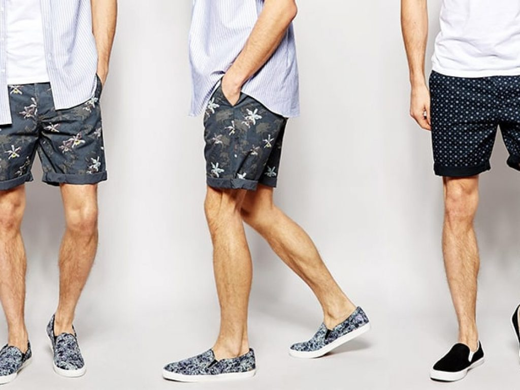 quần short nam hoạ tiết
