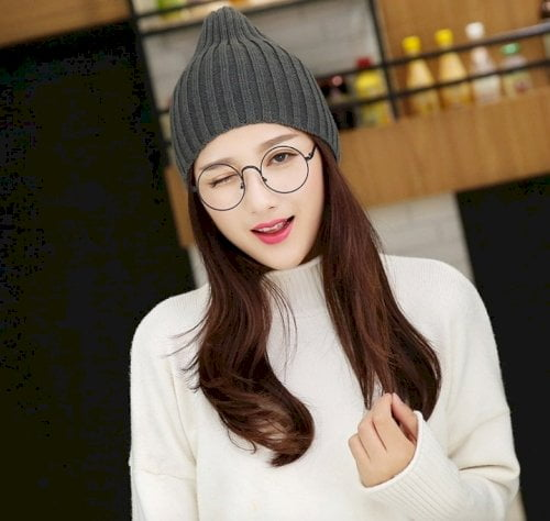 mũ len beanie nữ 2021