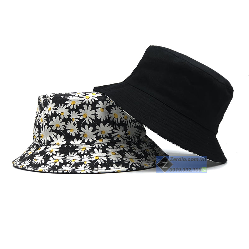 mũ hoa cúc vành