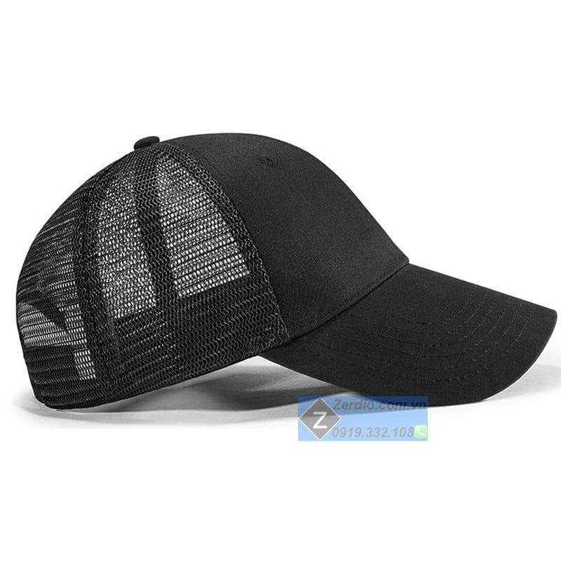 mũ lưỡi trai đen lưới