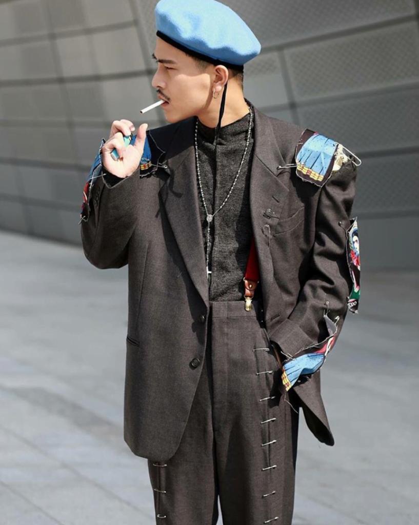 Mix mũ beret nam