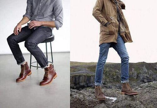giày boot nam nên mặc với gì
