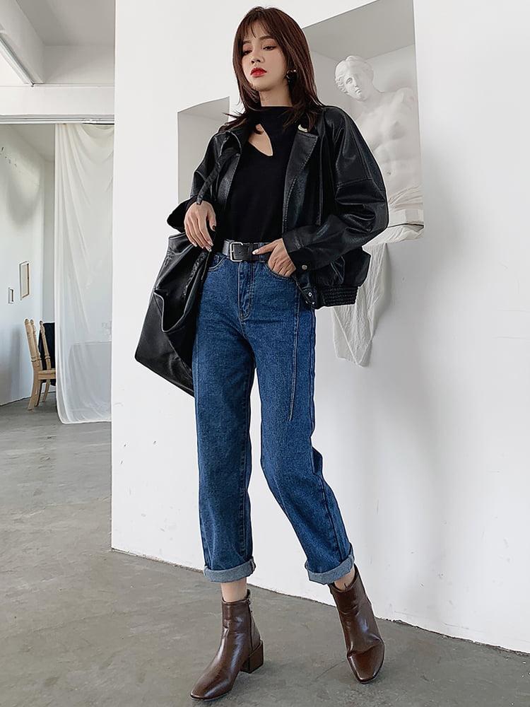 phối boot nữ với quần baggy