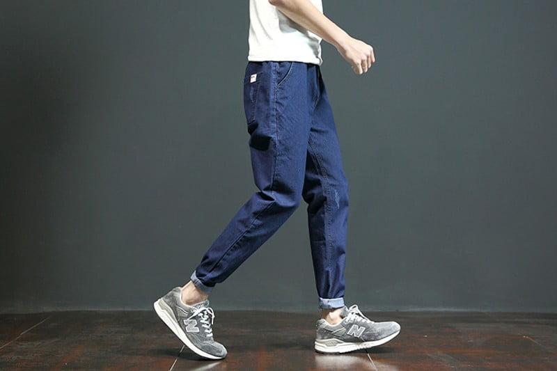 phối đồ với quần baggy jean nam