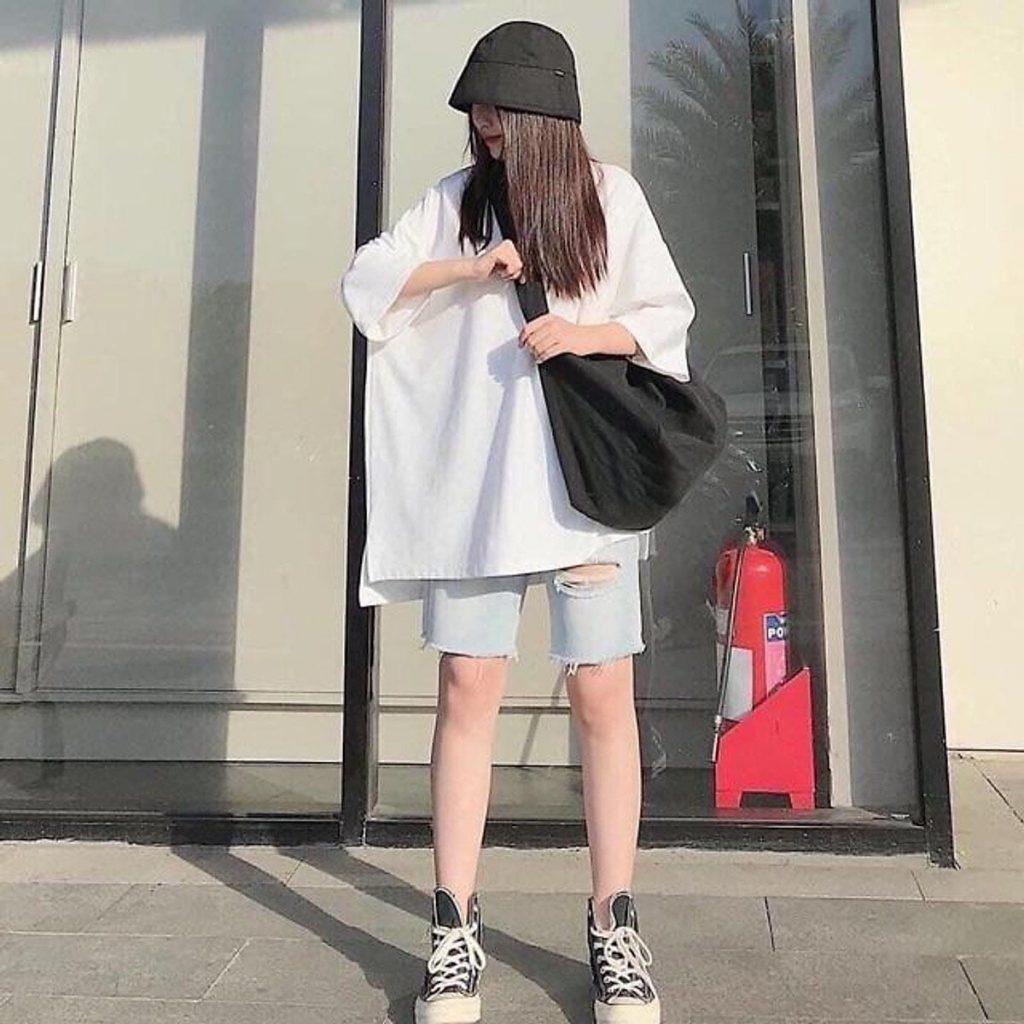 Phối mũ bucket và giày coverse phong cách đường phố